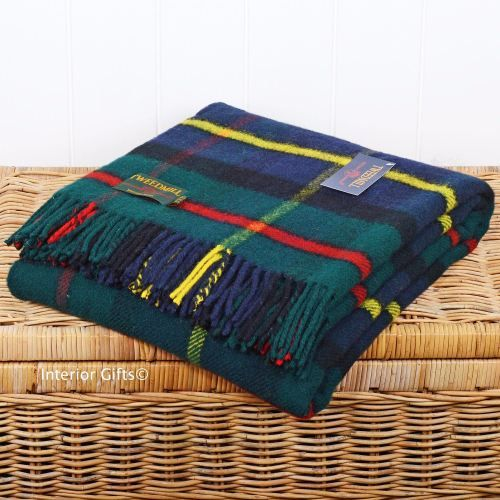 Tweedmill Hunting Mcleod Tartan Check Picnic Throw Travel Rug Blank Www