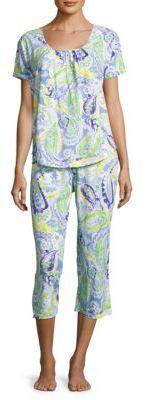 Lauren Ralph Lauren Geometric Print Cotton Pajamas $23.10 http://shopstyle.it/l/fqjw