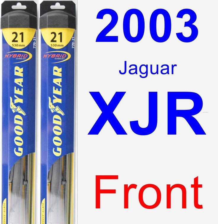 Front Wiper Blade Pack For 2003 Jaguar XJR