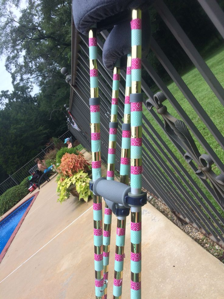 crafted crutches, cute crutches, decorated crutches
