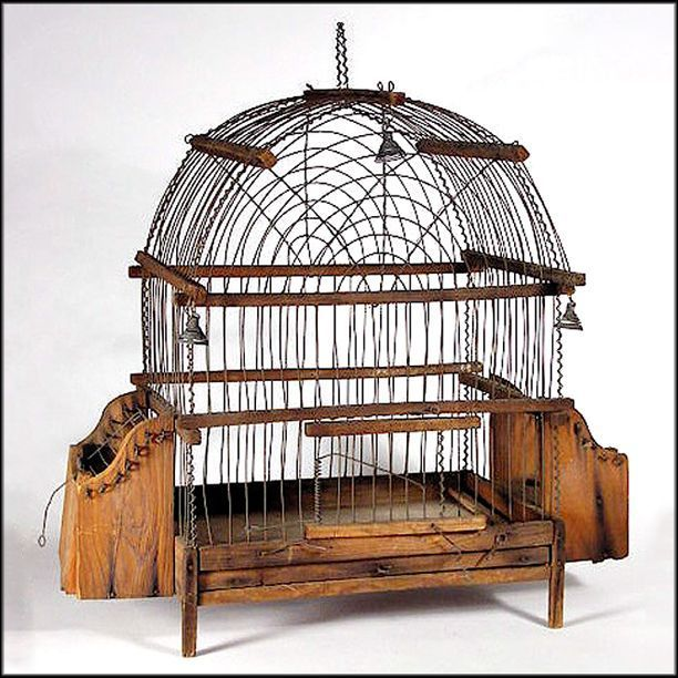 757 best bird cages images on pinterest for Cage a oiseau decorative