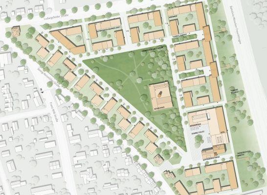 1. Preis: Städtebauliches Konzept, © pp a|s pesch partner architekten stadtplaner