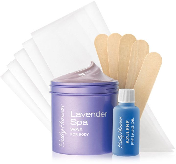 $10.99 Sally Hansen Lavender Spa Body Wax Kit | microwavable formula great for body, legs, arms, bikini, and more! Finish with Azulene oil to soothe skin and remove traces of excess wax. Get Salon results that last up to 8 weeks! Works on sensitive skin. Works on short hair.