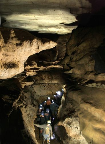 Wild Cave Tour at Raccoon Caverns in Chattanooga, Tennessee.  Minimum age is 6 years old.