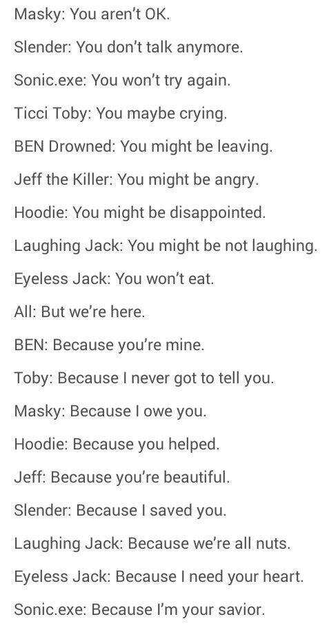 I love this... Except the fact that BEN thinks he owns me. Jeff and EJ are the only ones who own me.