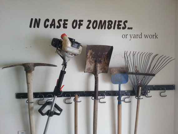 Zombies In Case Of Zombies Wall Decal for husbands garage
