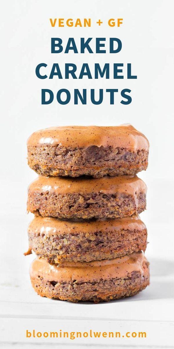 Caramel Baked Vegan Donuts Gluten Free Recipe Vegan Gluten