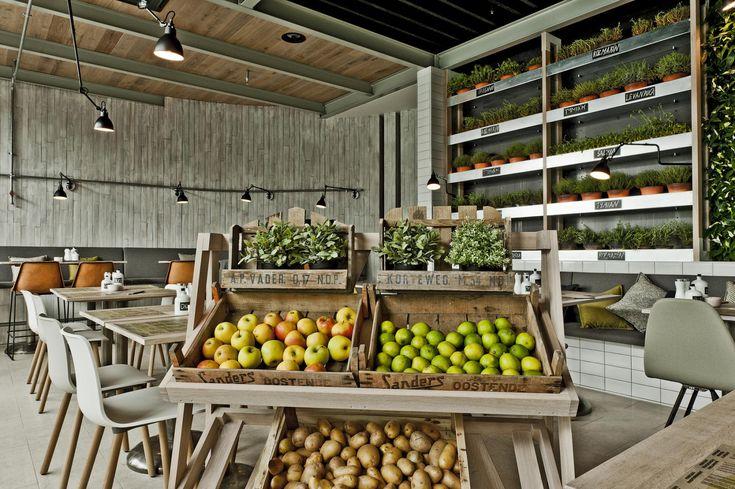eco cafe, mercado, bratislava green interior design | ideas, ideas