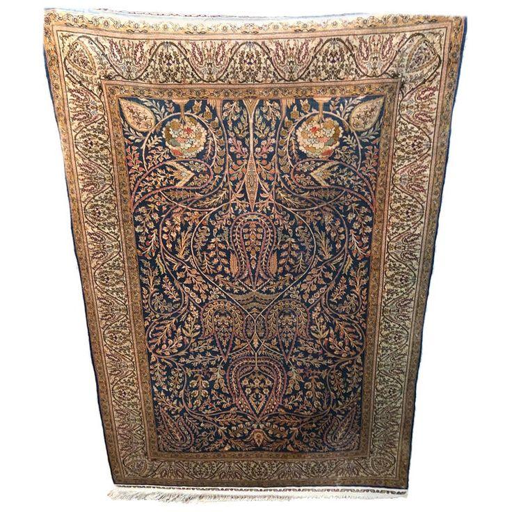 1stdibs Turkish Rug – Pure Region Hereke Turkey Certificate Turkish Islamic Silk