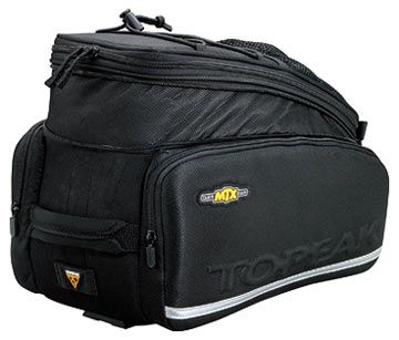 Perfect for carrying essentials and lunch. When you need some extra space the sides zip out into a set of panniers. Topeak MTX TrunkBag DX - House of Chain