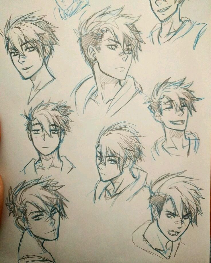 Best Drawing Ideas Hair Male 28 Ideas How To Draw Anime Hair Drawing Male Hair Manga Hair