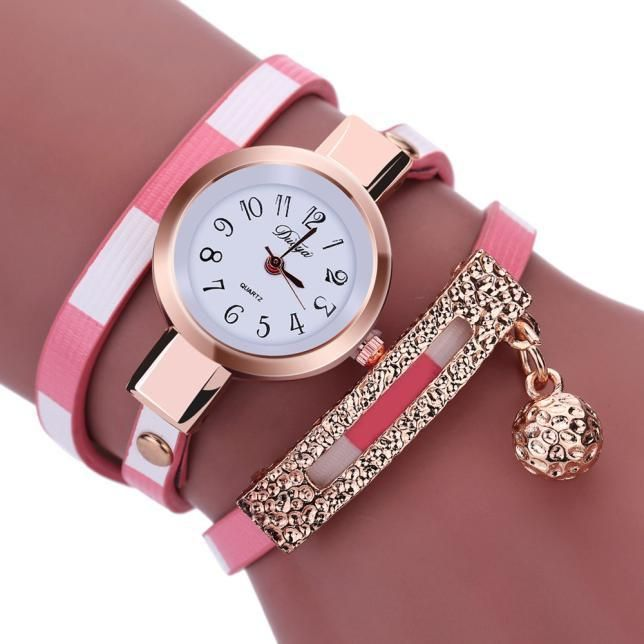 c32f943695a Fashion Women Charm Wrap Around Leatheroid Quartz Wrist Watch ...