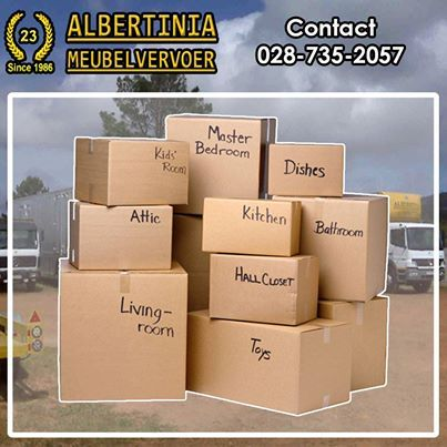 Albertinia Meubelvervoer will put a smile on your face the next time you decide to move. We offer a full range of services which include packing. #removals #movinghome #packaging
