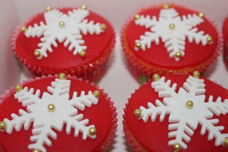 Sneeuwvlok Cupcakes