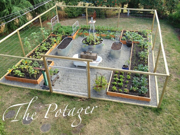 house and bloom from grass to garden presenting the potager - Vegetable Garden Design