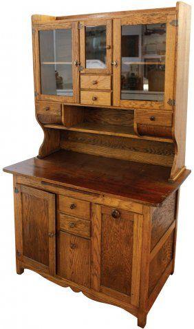 Charming Baker S Cabinet Furniture Possum Belly Kitchen Or Baker S Cabinet Oak