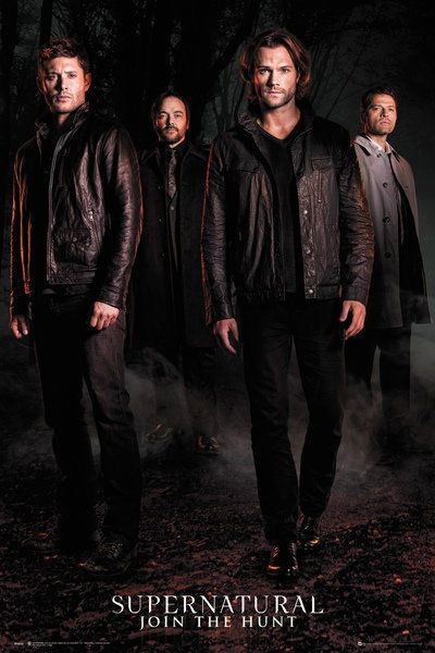 SUPERNATURAL - TV SHOW POSTER (SAM, DEAN, CASTIEL & CROWLEY - SEASON 12)  | eBay