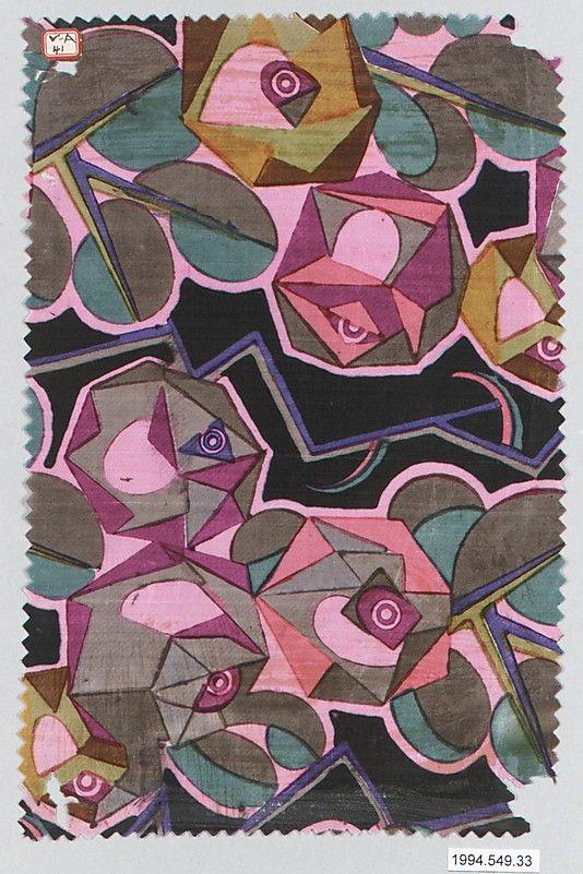 Textile Sample, Wiener Werkstätte, 1910-28.