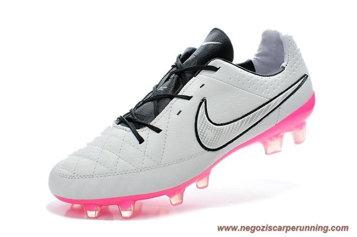 scarpe da calcetto Uomo Grigio/Rosa Nike Tiempo Legend V FG