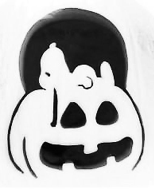 This is a graphic of Soft Peanuts Pumpkin Printable Carving Patterns