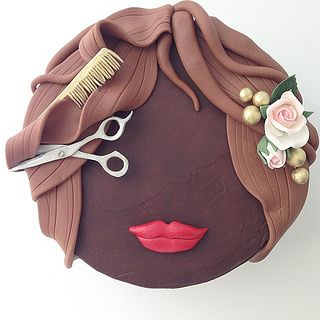 Hairdresser cake                                                                                                                                                                                 More