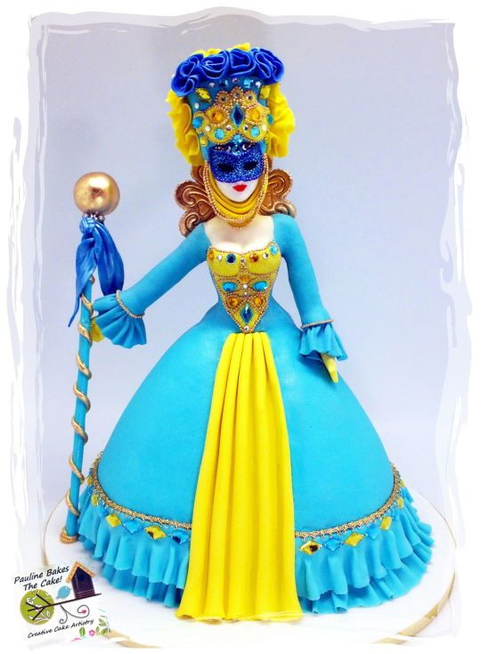 "The Venetian Duchess ""La Duchessa Veneziana""!   - Cake by Pauline (Polly) Soo - Pauline Bakes The Cake!"