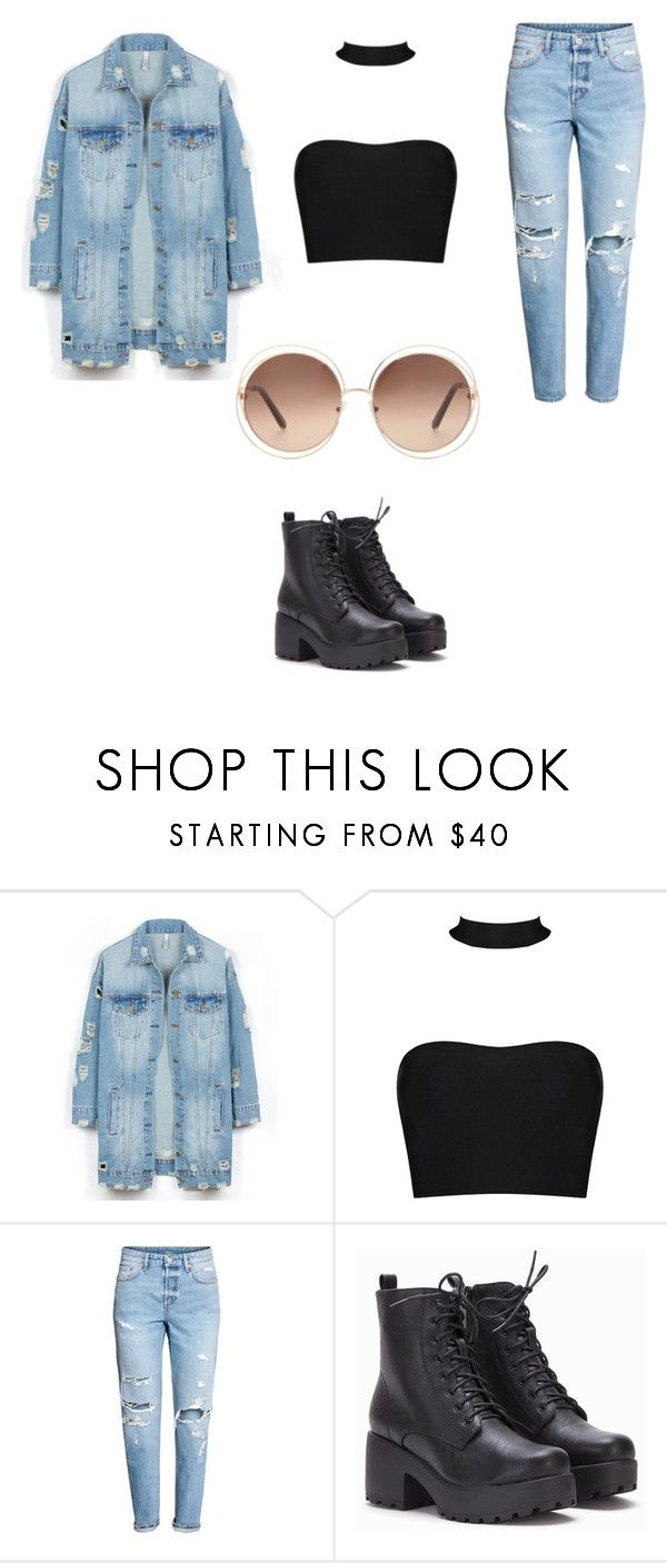 Walking around town be like by skylarmuffin on Polyvore featuring LE3NO, H&M and Chloé