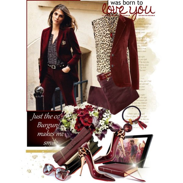"""Burgundy"" by miiilica on Polyvore"