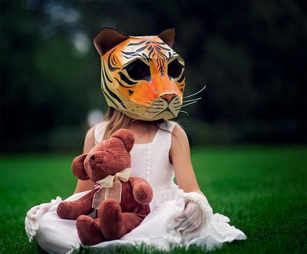 The Tiger  The 18 Most Stunning 3D Masks Created By A Talented Designer • BoredBug
