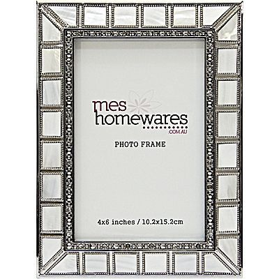 Mother of Pearl Photo Frame, 4x6""