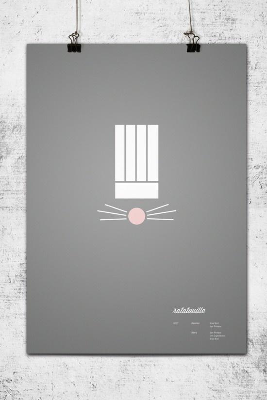 Ratatouille minimalista: Pixar Poster, Minimalist Pixar, Graphics Design, Minimal Poster, Pixar Movies, Movies Poster, Minimalist Poster, Disney Poster, Wonchan Lee