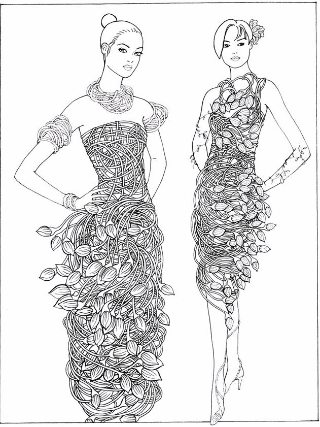 10 best Fashion Dress Drawing images on Pinterest Color