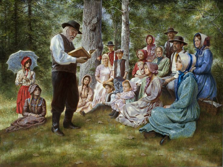 Alfredo Rodriguez paintings - Sermon in the Woods