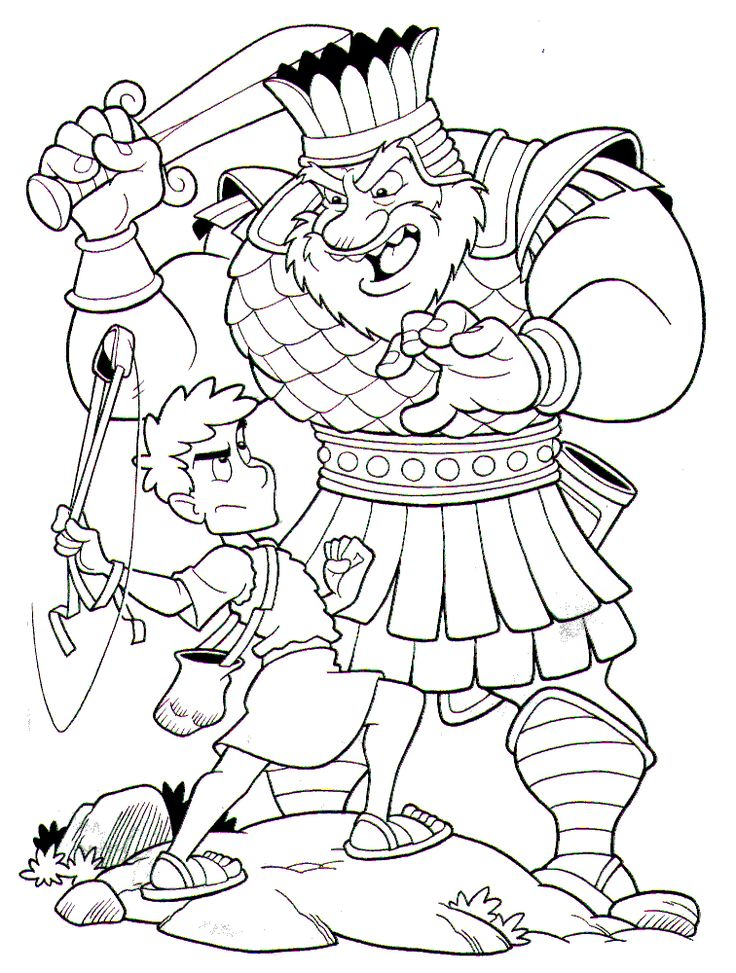 david y goliat luchando kids churchbible storiescoloring sheetsdavid and goliath coloring pagedavid