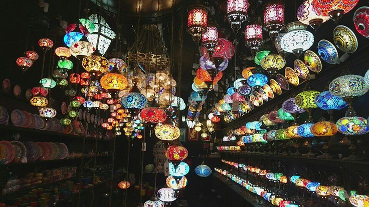 Camden market - lights like giant beads. New years day 2016