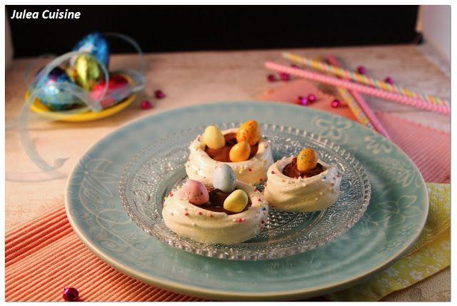 Julea Cuisine - Ma petite cuisine au quotidien: Nids de Pâques en meringues [Pâques]