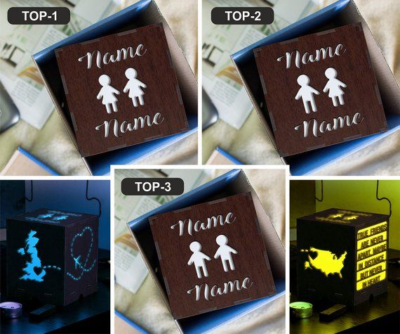 Led light night Love gift for boyfriend Small bedside lamp Long distance date Long distance mom Couple gift Romance Distance fathers Pride