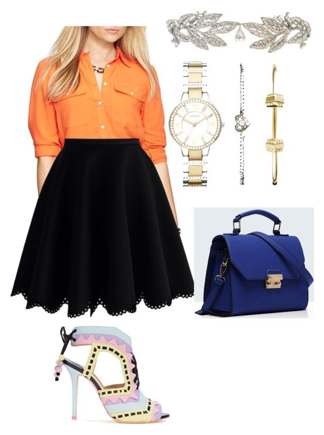 Carsia's casual style by Mimi by mokatsanemk on Polyvore featuring polyvore fashion style Ralph Lauren Chicwish Sophia Webster Relaxfeel FOSSIL women's clothing women's fashion women female woman misses juniors
