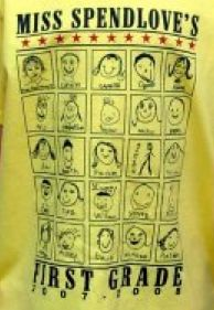 This is so cool- students draw self-portraits on index cards and a website turns them into t-shirts. (Each shirt $7)  @Lyndsay Smith Smith Carroll. @Chris Cote Cote Jackson