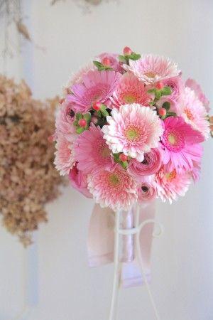 ガーベラブーケ/花どうらく/ブーケ/http://www.hanadouraku.com/bouquet/wedding/