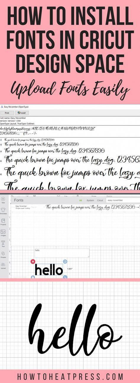 How to Install Fonts In Cricut Design Space – Upload Fonts Easily