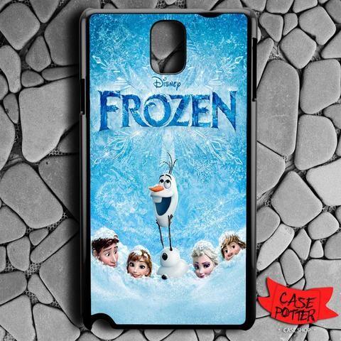 Frozen Cover Movie Samsung Galaxy Note 3 Black Case