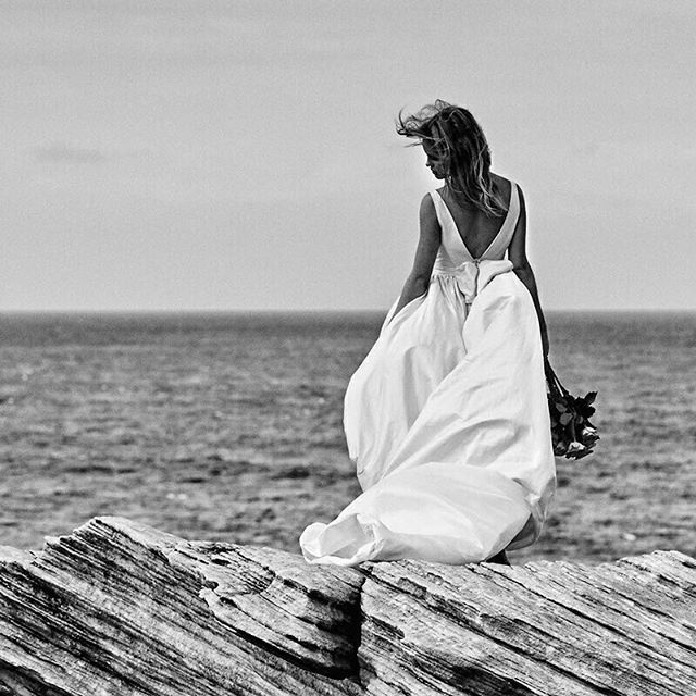 The Pearl gown billowing in the breeze. #MoiraHughes #Love - Moira Hughes Couture
