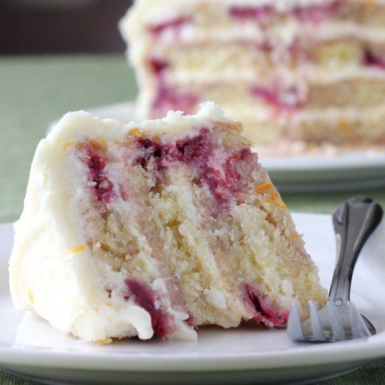 Meyer Lemon & Raspberry Yogurt Cake