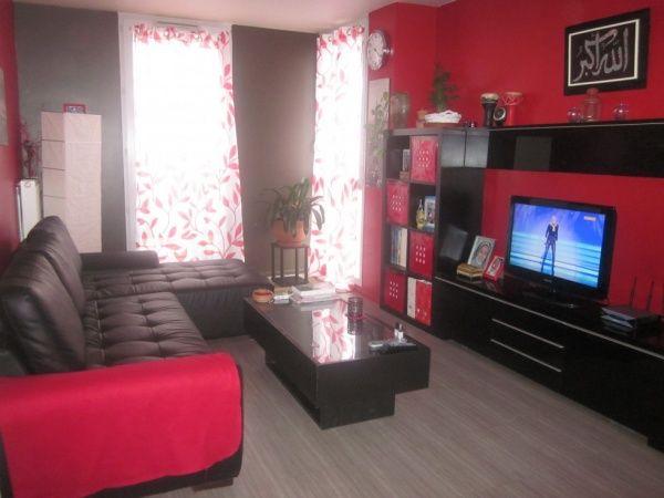 salon rouge et noir Salons - deco salon rouge blanc noir
