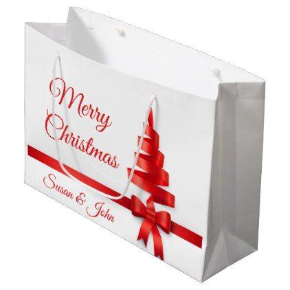 Personalized Large Christmas Gift Bag - christmas craft supplies cyo merry xmas santa claus family holidays