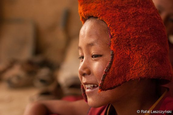 Young tibetan buddhist monk from Phuktal Gompa - travel photography by RafLeszczynskiPhotos