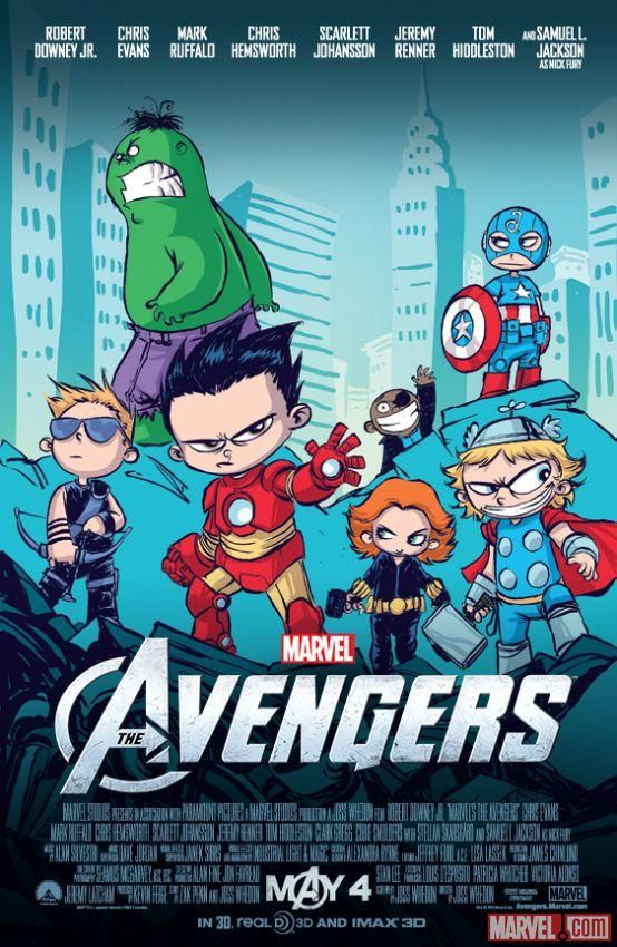 Marvel Unveils SDCC Exclusive Skottie Young Poster For MARVEL'S THE AVENGERS