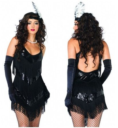 plus size flapper costume S-3XL Sexy Old Fashioned Roaring 20s Flapper Girl Costume Halloween Fancy party Dress costume
