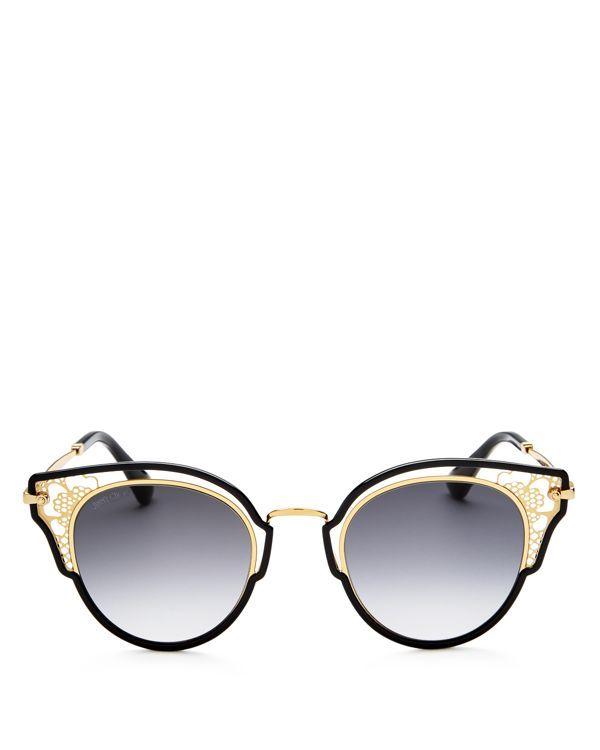 Dhelia Cat-eye Rose Gold-tone And Acetate Sunglasses - Metallic Jimmy Choo London Hccgd99slD